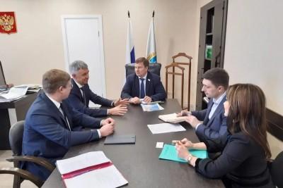 Состоялась рабочая встреча с линейным менеджером, куратором моногородов Саратовской области Андреем Барановым